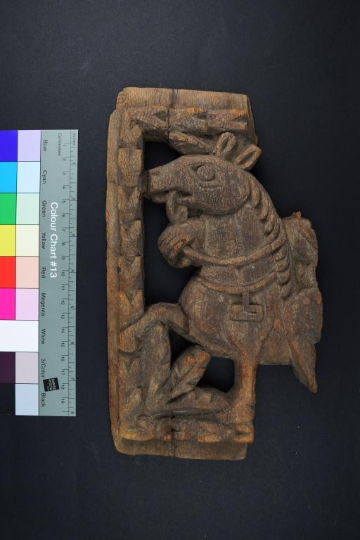 Carving of a Horse card