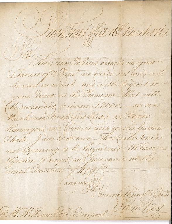 Autograph letter by Samuel Grey to William Pole card
