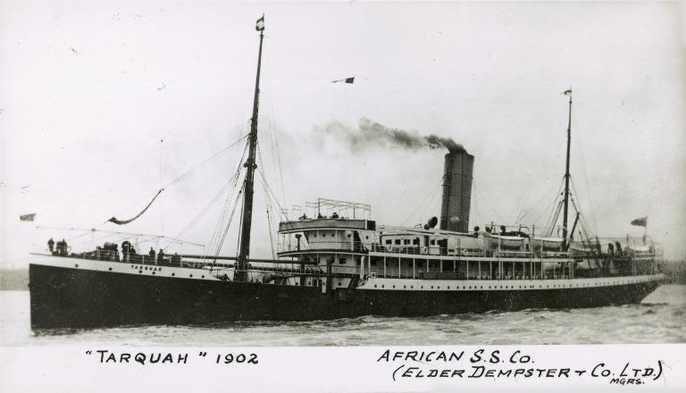 Photograph of Tarquah, Elder Dempster card