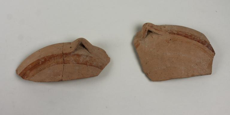 Sherds from a bowl card
