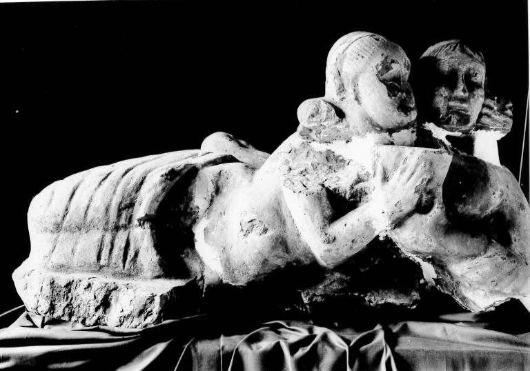 Sculpture of a Reclining Couple card
