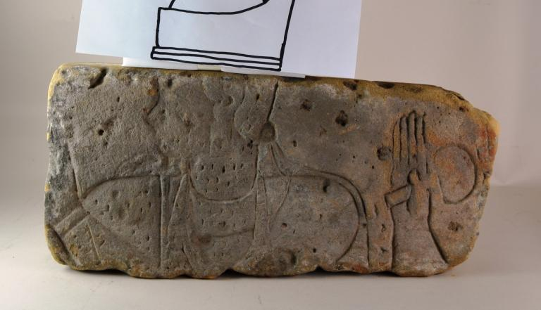 Carved Relief of Royal Figures card