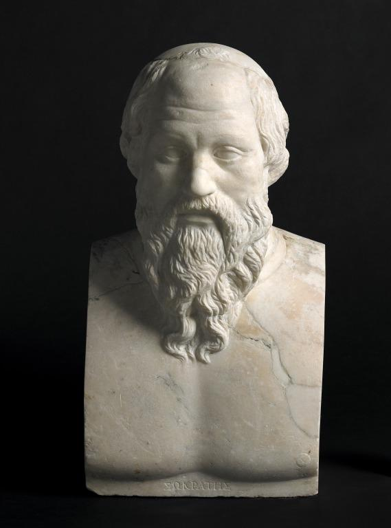 Bust of Socrates card