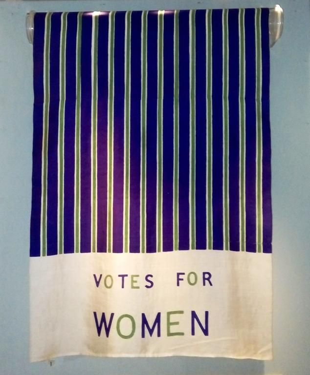 Scarf, 'Votes for Women' card