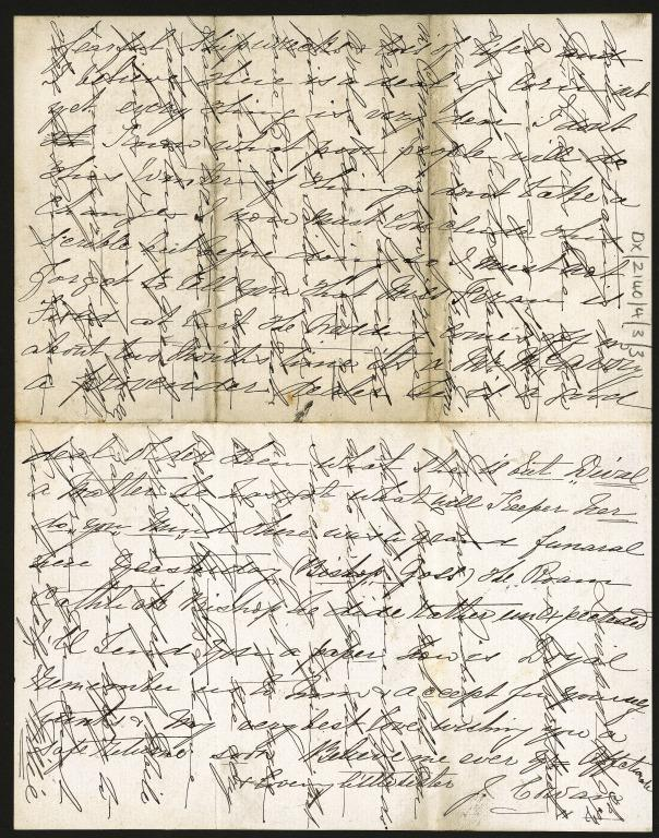 Letter to Andrew Anderson from Jane Cowan card