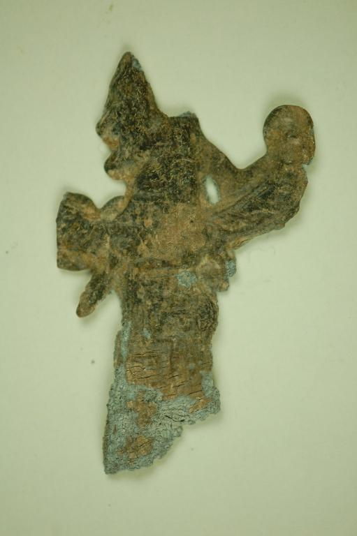 Fragment of winged female card