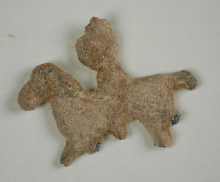 Fragment of a horse rider card