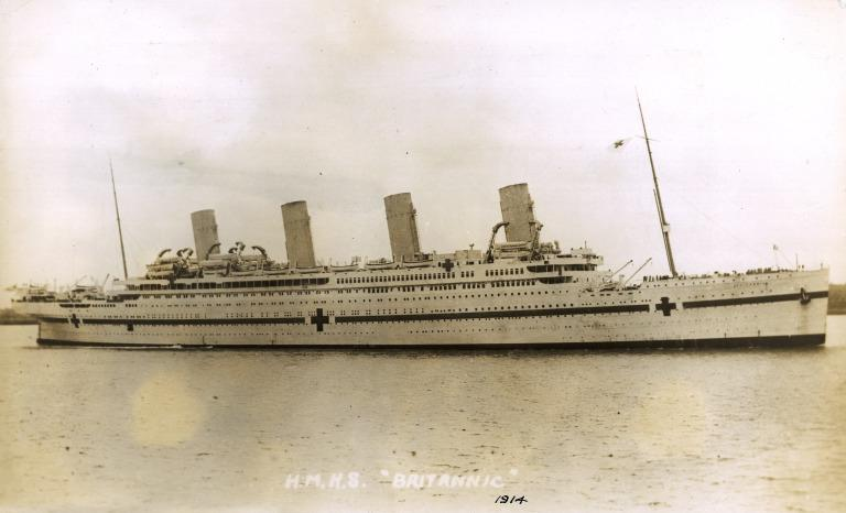 Photograph of Britannic, White Star Line card