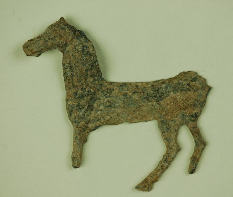 Horse votive offering card