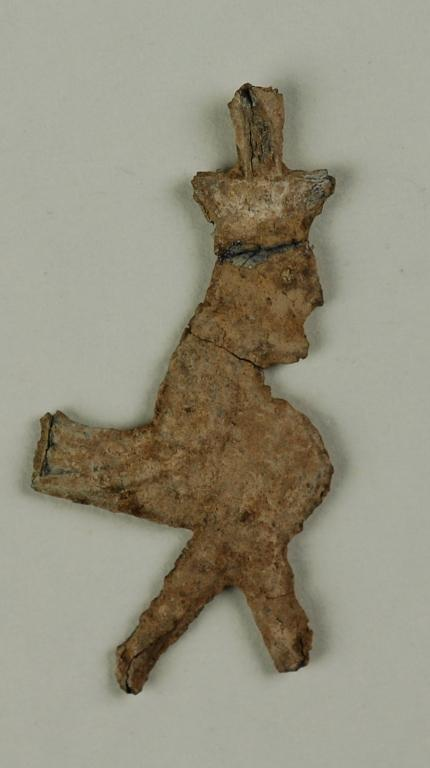 Fragment of a female sphinx card
