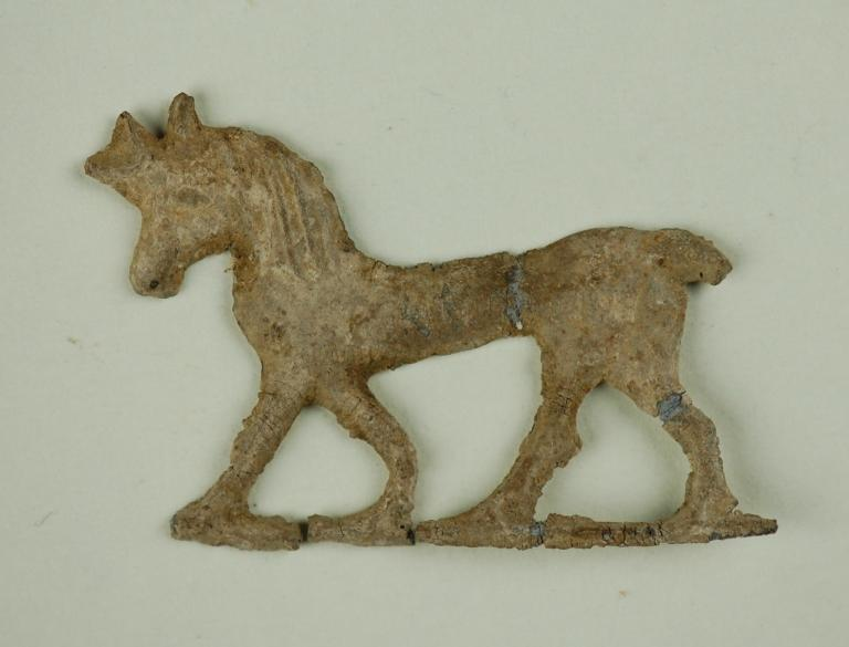 Horse votive offering card