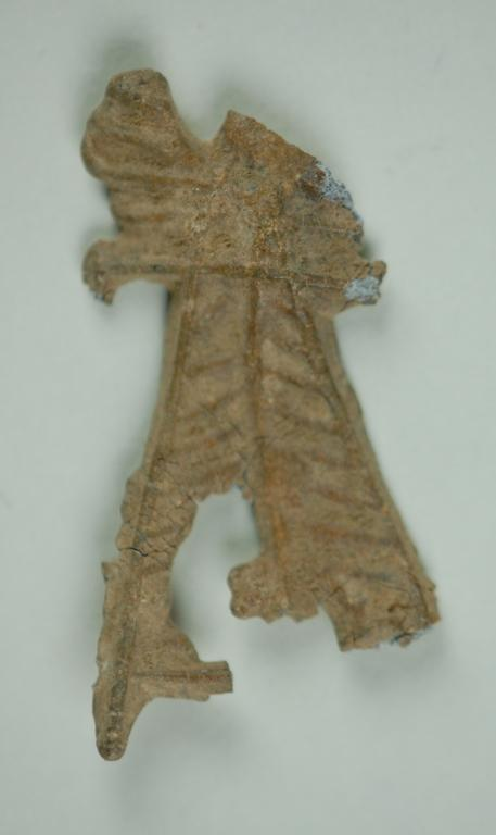 Fragment of long skirted figurine card