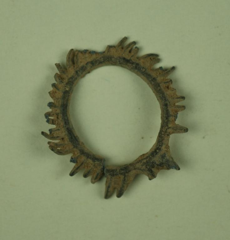 Fragment of a wreath from a votive offering card