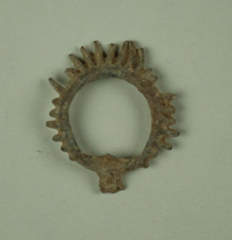 Wreath fragment from a votive offering card