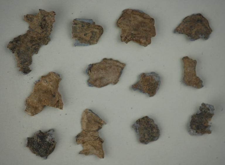 Various fragments of votive offerings card