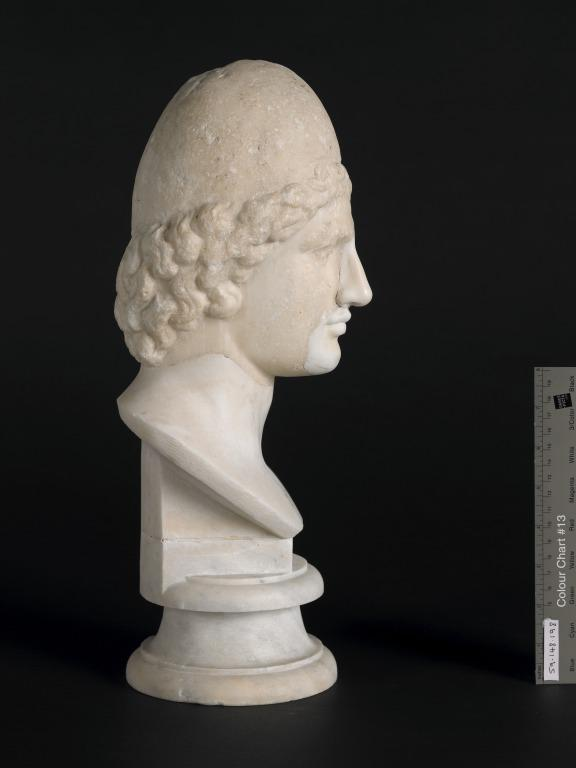 Bust of one of the Dioskouroi card