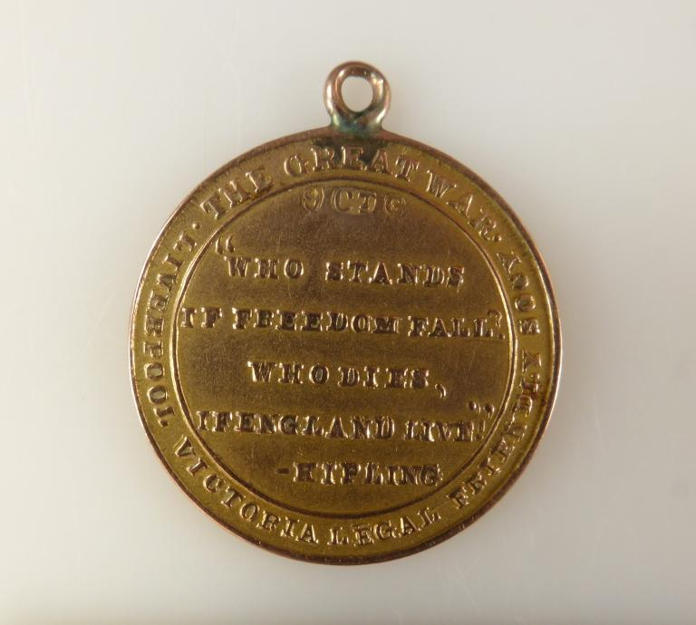 Liverpool Victoria Legal Friendly Society Tribute Medal card
