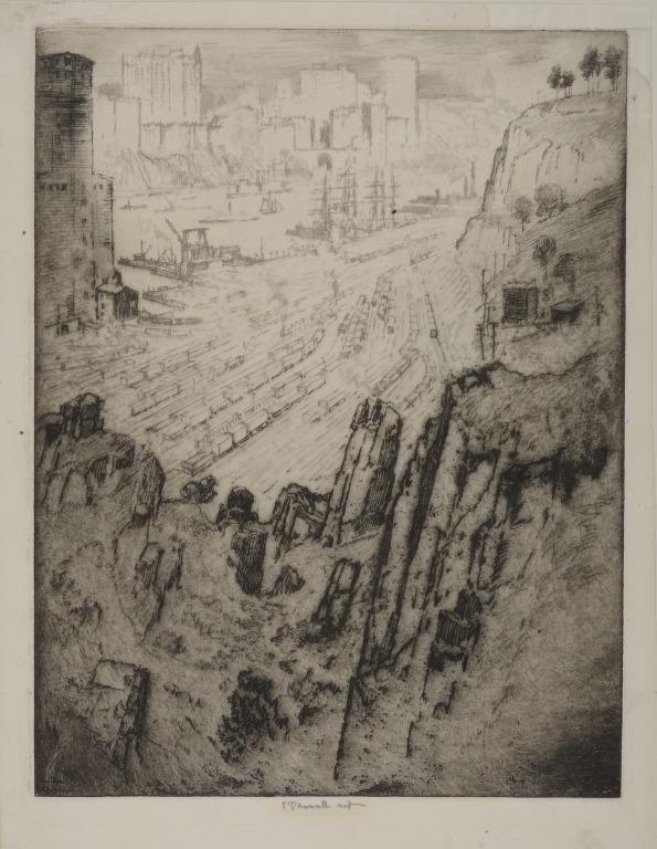 Palisades and Palaces, New York card