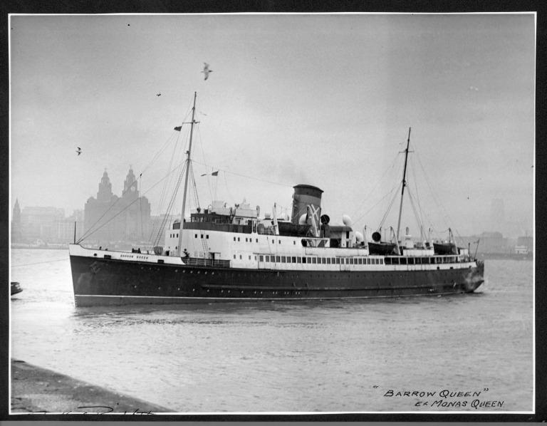Photograph of Barrow Queen (ex Mona's Queen), Isle of Man Steam Packet Company card