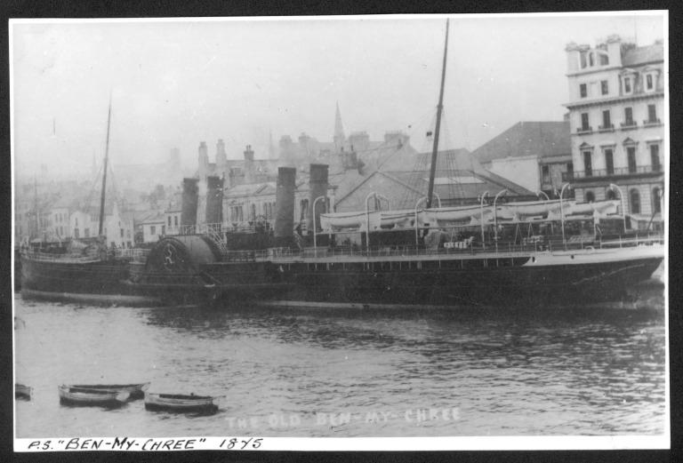 Photograph of Ben-my-chree, Isle of Man Steam Packet Company card