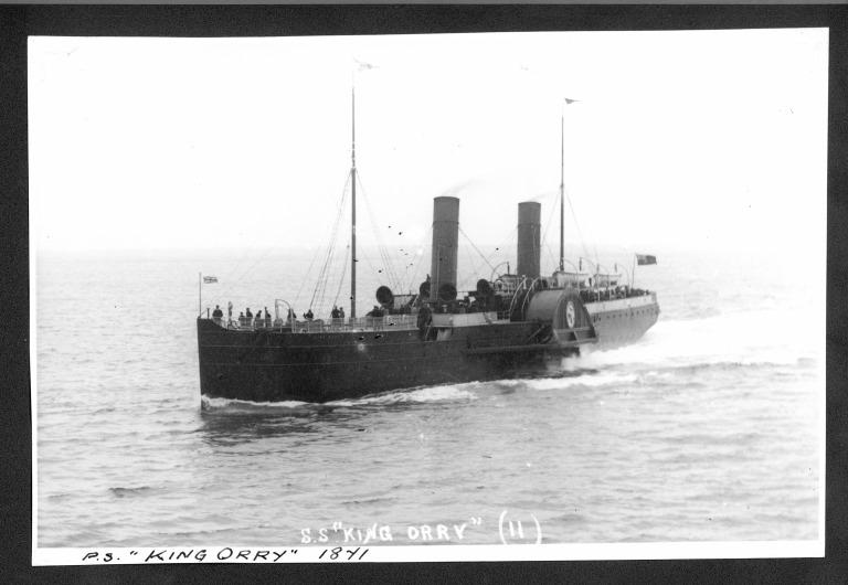 Photograph of King Orry II, Isle of Man Steam Packet Company card