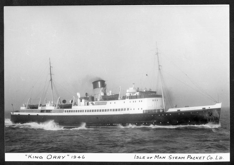 Photograph of King Orry IV, Isle of Man Steam Packet Company card