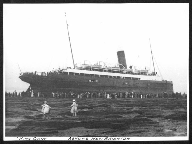 Photograph of King Orry III, Isle of Man Steam Packet Company card