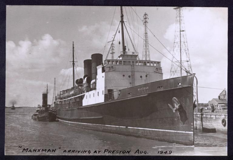Photograph of Manxman, Isle of Man Steam Packet Company card