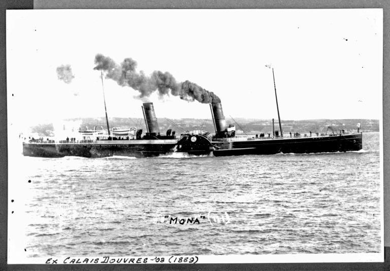 Photograph of Mona III, Isle of Man Steam Packet Company card