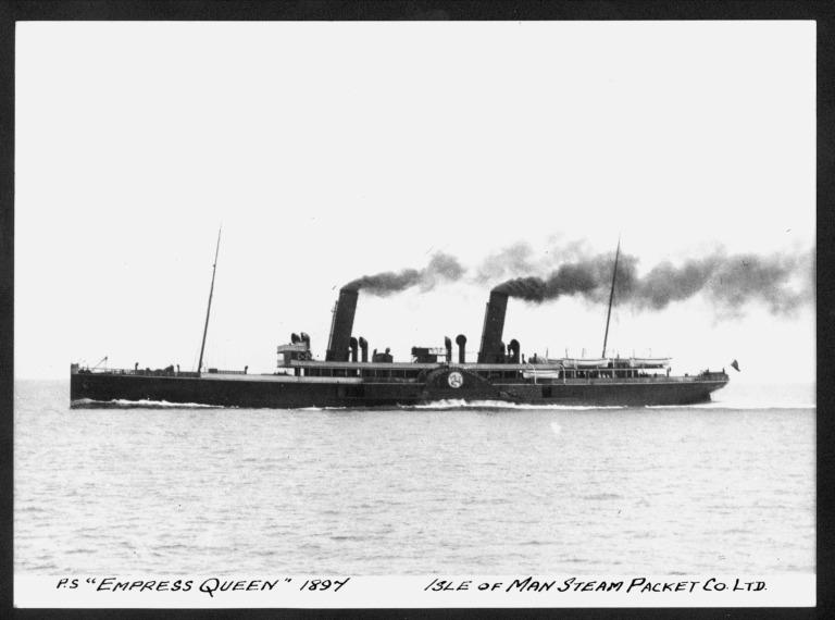 Photograph of Empress Queen, Isle of Man Steam Packet Company card