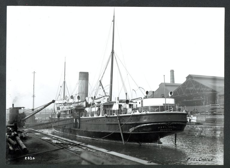 Photograph of Peel Castle (ex Duke of York), Isle of Man Steam Packet Company card