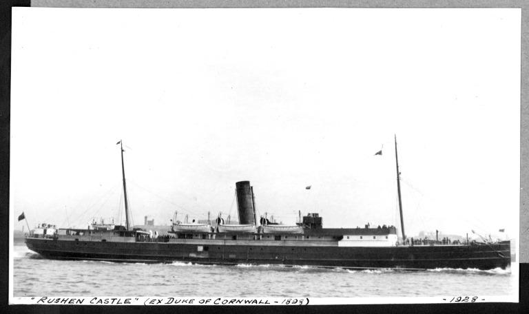 Photograph of Rushen Castle, Isle of Man Steam Packet Company card