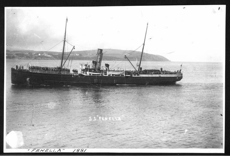 Photograph of Fenella, Isle of Man Steam Packet Company card