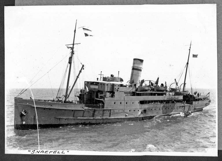Photograph of Snaefell III, Isle of Man Steam Packet Company card