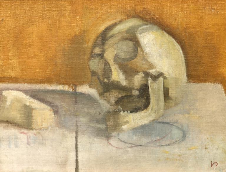 Still Life with a Skull card