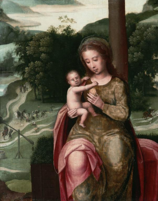 Virgin and Child with the Massacre of the Innocents card