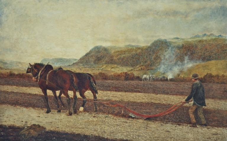Ploughing, Valley of the Conway card