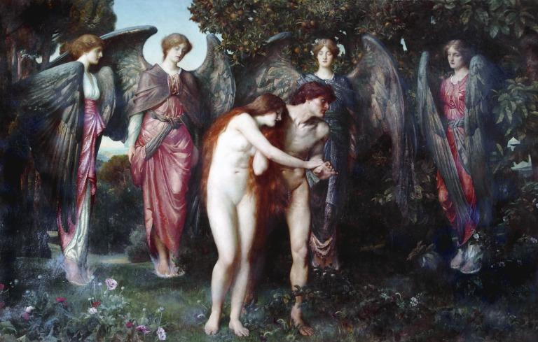 The Expulsion of Adam and Eve card