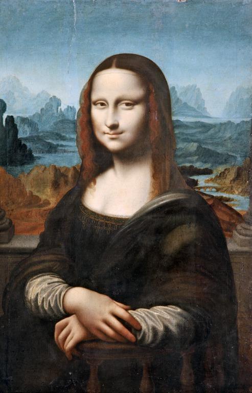 Portrait of Mona Lisa card