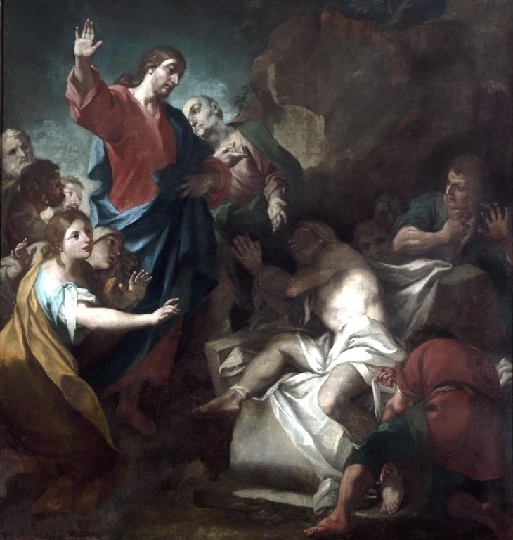 The Raising of Lazarus card
