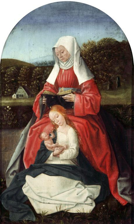 Virgin and Child with St. Anne card