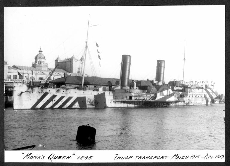 Photograph of Mona's Queen II, Isle of Man Steam Packet Company card