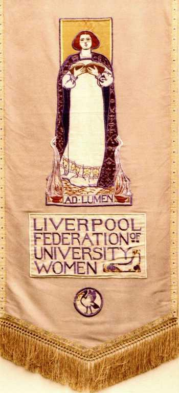 Liverpool Federation of University Women banner card