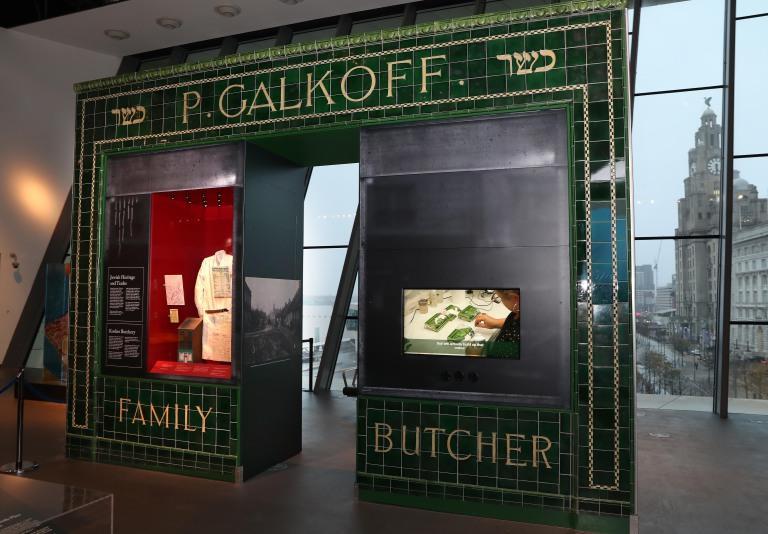 Galkoff's Kosher butcher's shop facade card